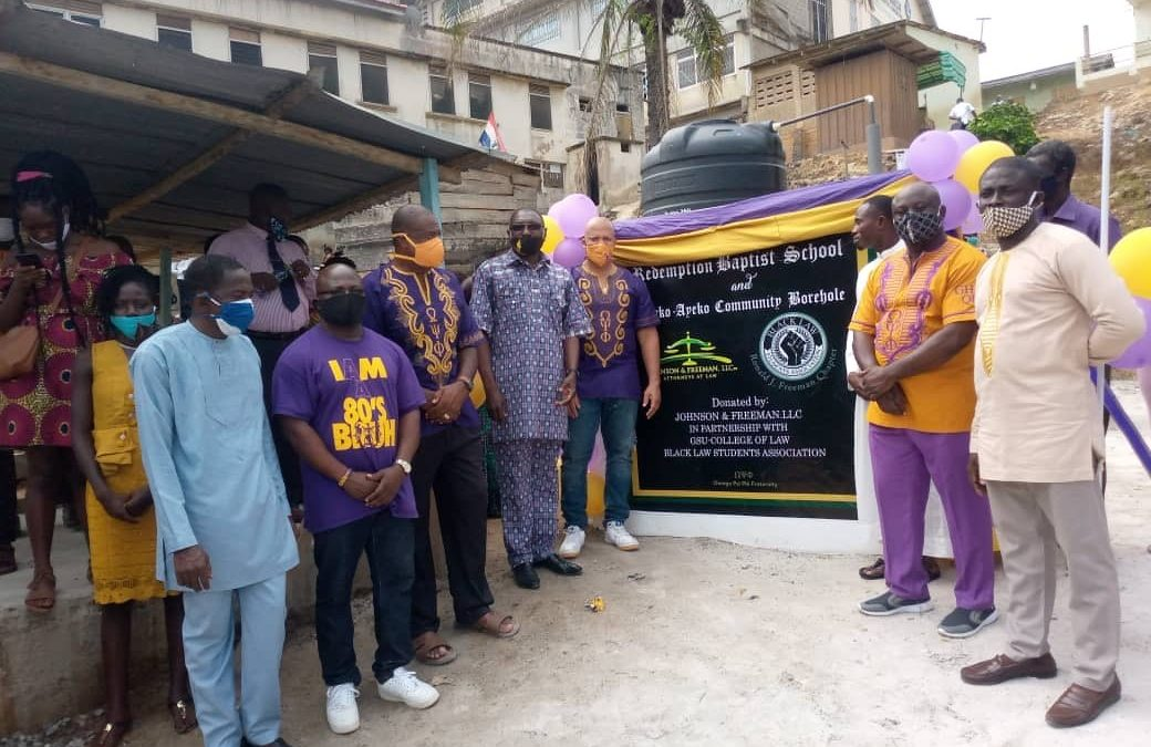 Johnson & Freeman, LLC and Black Law Students Association Support Clean Water Initiative in Ghana